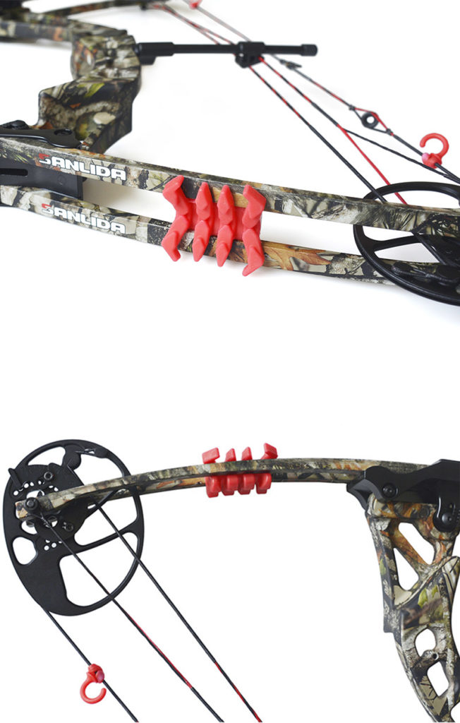 where to put limbsavers on compound bow